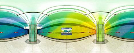 Panoramafoto der U-Bahnstation Candidplatz München
