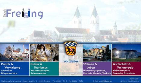Homepage/Startseite der Stadt Freising